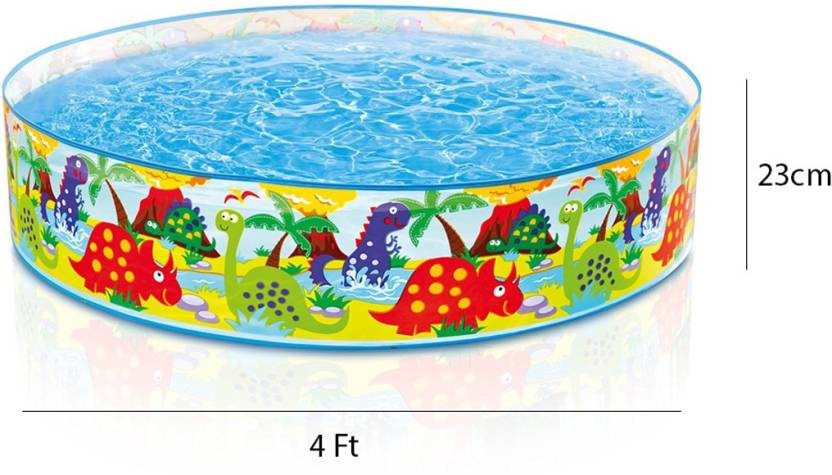 INTEX 4 FEET ROUND INFLATABLE NO AIR WATER POOL-NO NEED FOR AN AIR ...