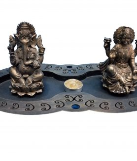 New Archies Laxmi and Ganesh with Candles T-Lights Holder