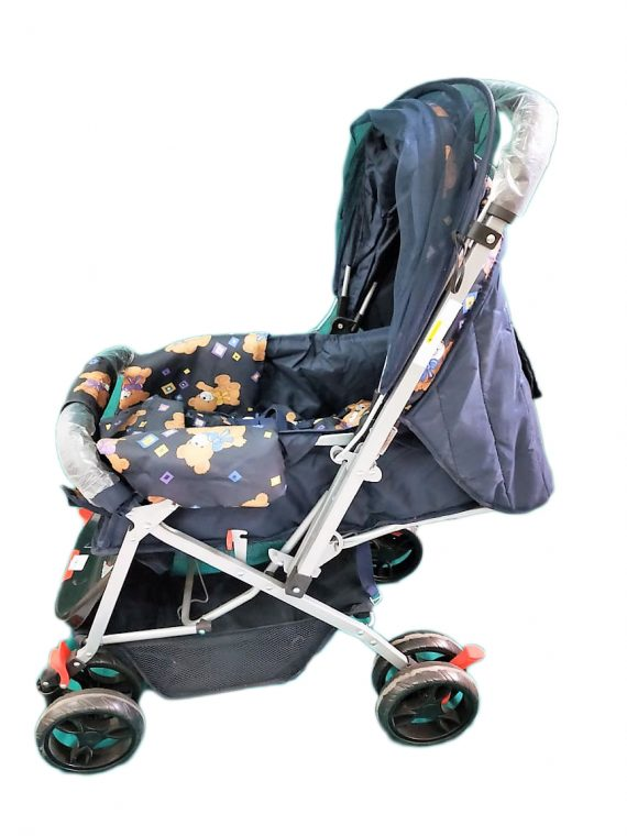 Pram Cum Stroller With Mosquito Net and Bag for Baby