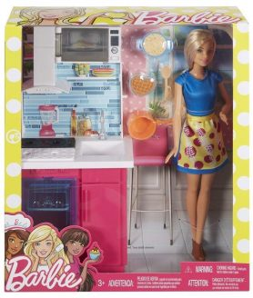 The New Barbie Kitchen Doll - Original For Childrens