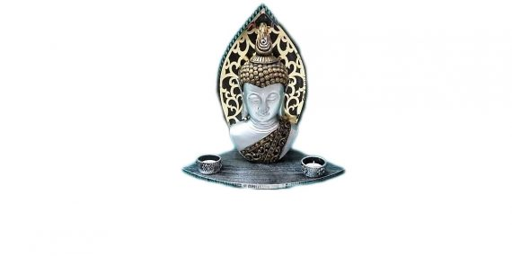 New Buddha With Decorative Candle Holder For Home