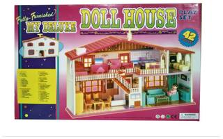 My New Deluxe Doll House 42 Pieces For Childrens