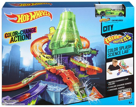 New Hot wheels Shifters Color Splash Science Lab For Kids
