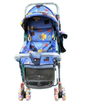 New Baby Pram Cum Stroller Blue with Bag For Kids