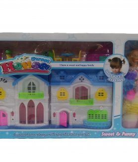 The New Make Sweet House With Doll For Childrens