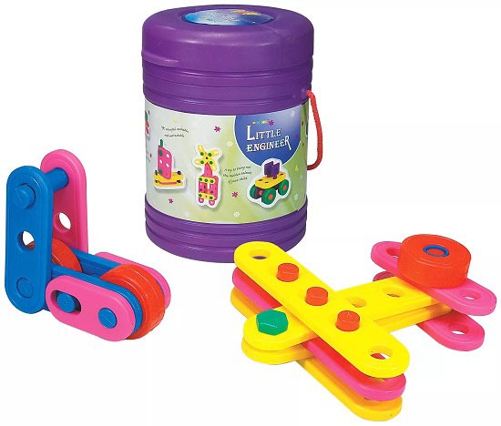 Girnar Block Little Engineer with Plastic Storage Box