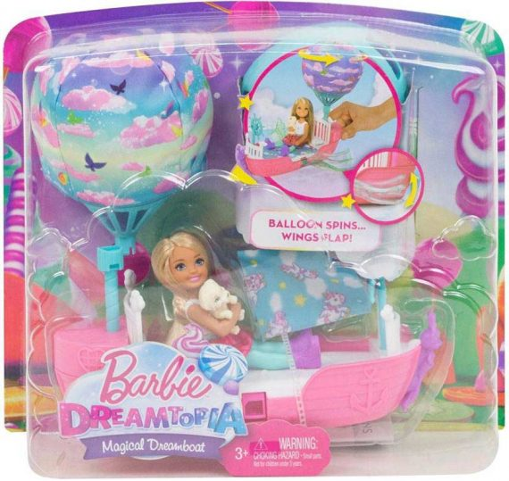 New Barbie Dreamtopia Magical Dreamboat Doll For Kids