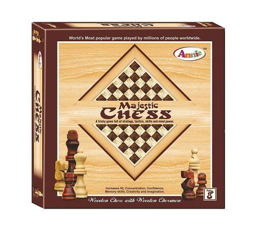 The Annie Majestic Chess Wooden Board World Wide Popular Game
