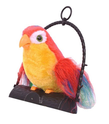 The Talk Back Parrot Battery Operated Toy For Kids