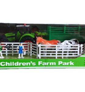 The New Trolley Tractor Children Farm Park For Kids