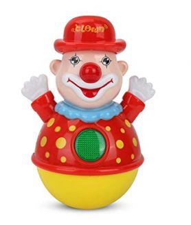 Roly Poly Clown Joker Tumbler Toy with Light and Music For Kids