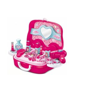 Beauty Makeup Kit for Kids with Portable Van Shaped Suitcase