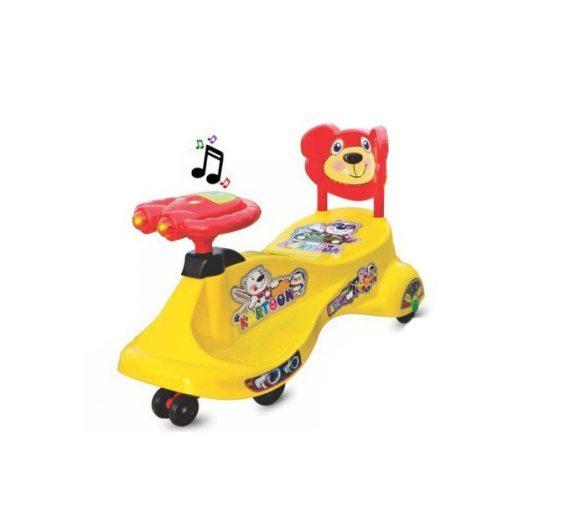 Kartoon Free Wheel Magic Rideon Swing Car By Panda