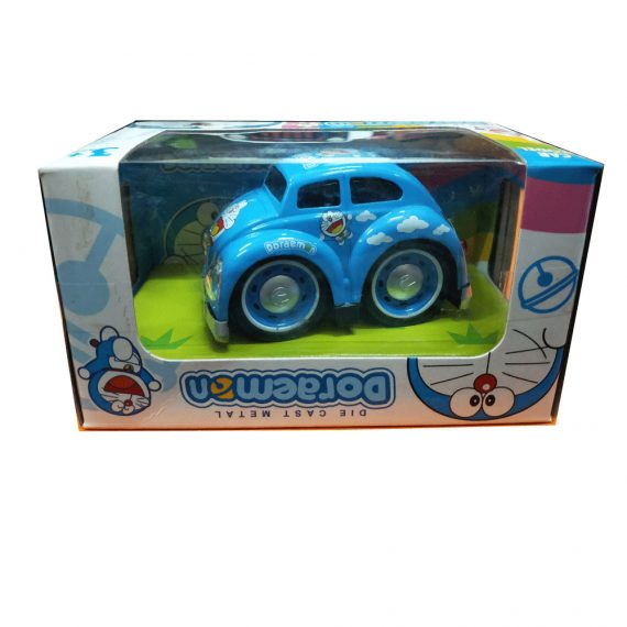 Toyoos Pull Back Doremon Metal Car For Kids Blue