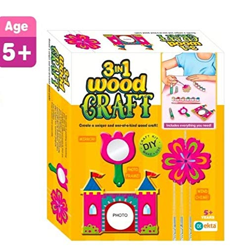 Ekta 3 in 1 Wood Craft House of Gifts For Childrens