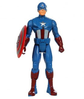 Toyoos Avengers 2 Super Hero Captain America Light On Chest Action Figure's For kids