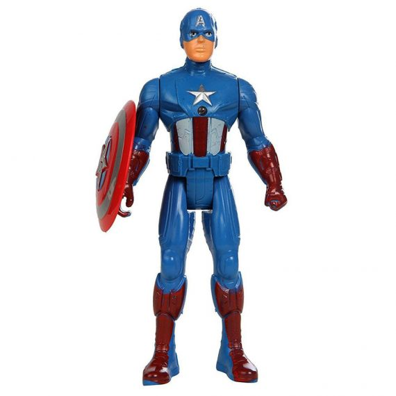 Toyoos Avengers 2 Super Hero Captain America Light On Chest Action Figure's For kids