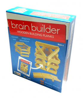 House of Gifts Brain Builder Wooden Buiding Planks