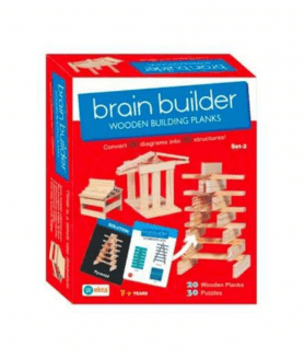House of Gifts Brain Builder Set -2 Wooden Building Planks