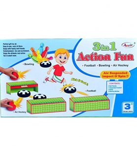 Annie 3 in 1 Action Fun Football Bowling Air Hockey