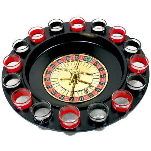 Drinking Roulette Drinking Game Set 2 Balls and 16 Glasses