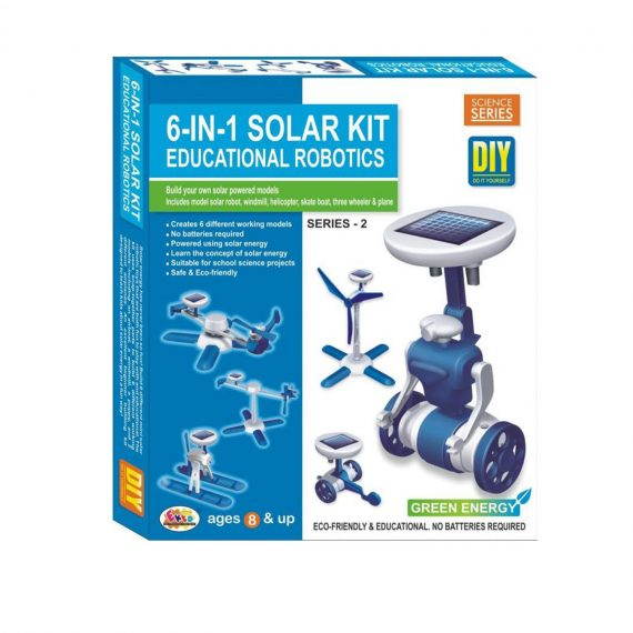 Ekta 6 In 1 Solar Kit Robotics Series-2 Diy Kit For Build Solar Models
