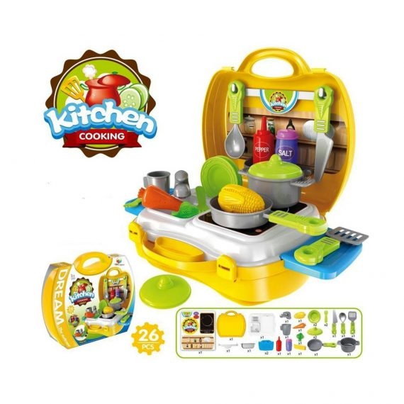 Toyoos Premium Quality Portable Dream Kitchen Play Set For Kids