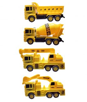 Toyoos JCB Mixture Dumper & Tank Construction Toy Vehicle Pack of 4