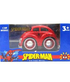 Toyoos Spiderman Metal Car with Pull Back For Kids