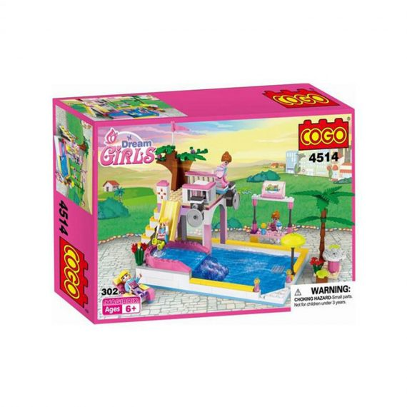 COGO 4514 Dream Girls Cool Summer House Building Block Set