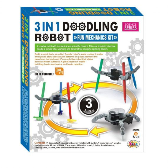 Ekta 3 in 1 Doodling Robot Fun Mechanics Kit for Kids