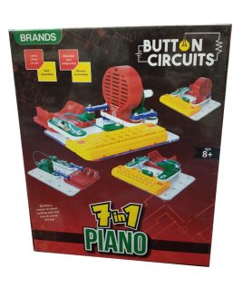 Toyoos 7 in 1 Musical Piano For Boys and Girls Multicolor