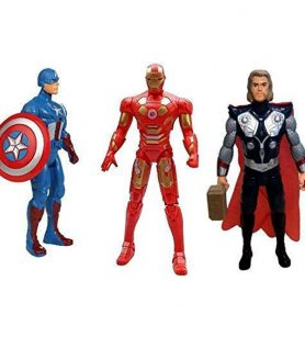 Toyoos Avengers Super Heroes - 3 in 1 Action Figure Set For Kids