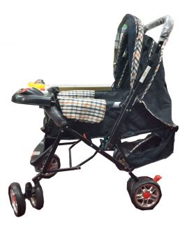 Toyoos Baby Stroller Cum Pram For Boys And Girls Multicolor